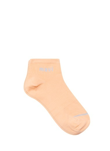 Mavi Mavi Logo Baskılı Turuncu Soket Çorap Oranj